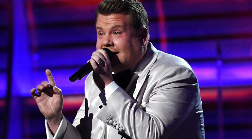 James Corden hosted the show with a few Trump hits.